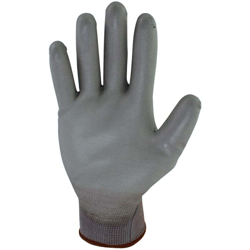PU Handschuh grau, Gr. 9