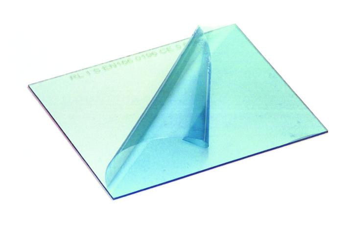 Vorsatzscheiben, 52x107x1 mm, Polycarbonat