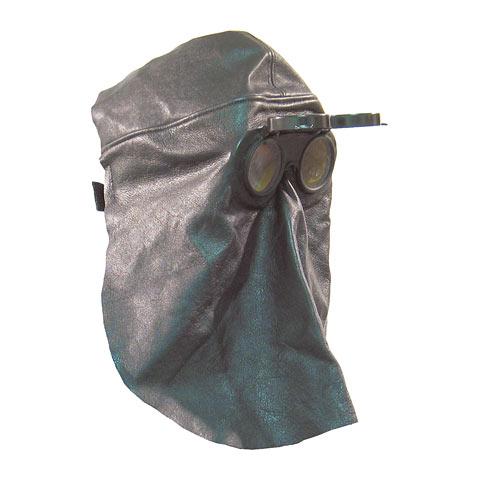 Lederhaube Standard Rindnabenleder, Brille dia. 50 mm