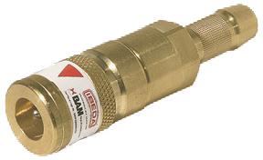 Schnellkupplung NKT  Brenngas  Schlauch 9,0 mm