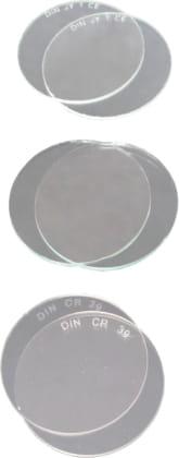 Brillenglas klar, dia. 50 mm, CE, ungestempelt