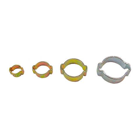 2-Ohrklemmen chromglanzverzinkt    9  - 11 mm