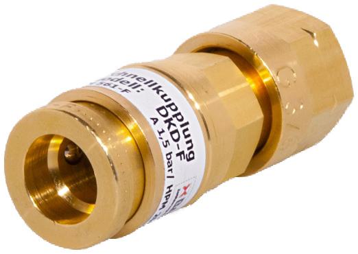 """Schnellkupplung DKD G3/8""""LH Brenngas"""