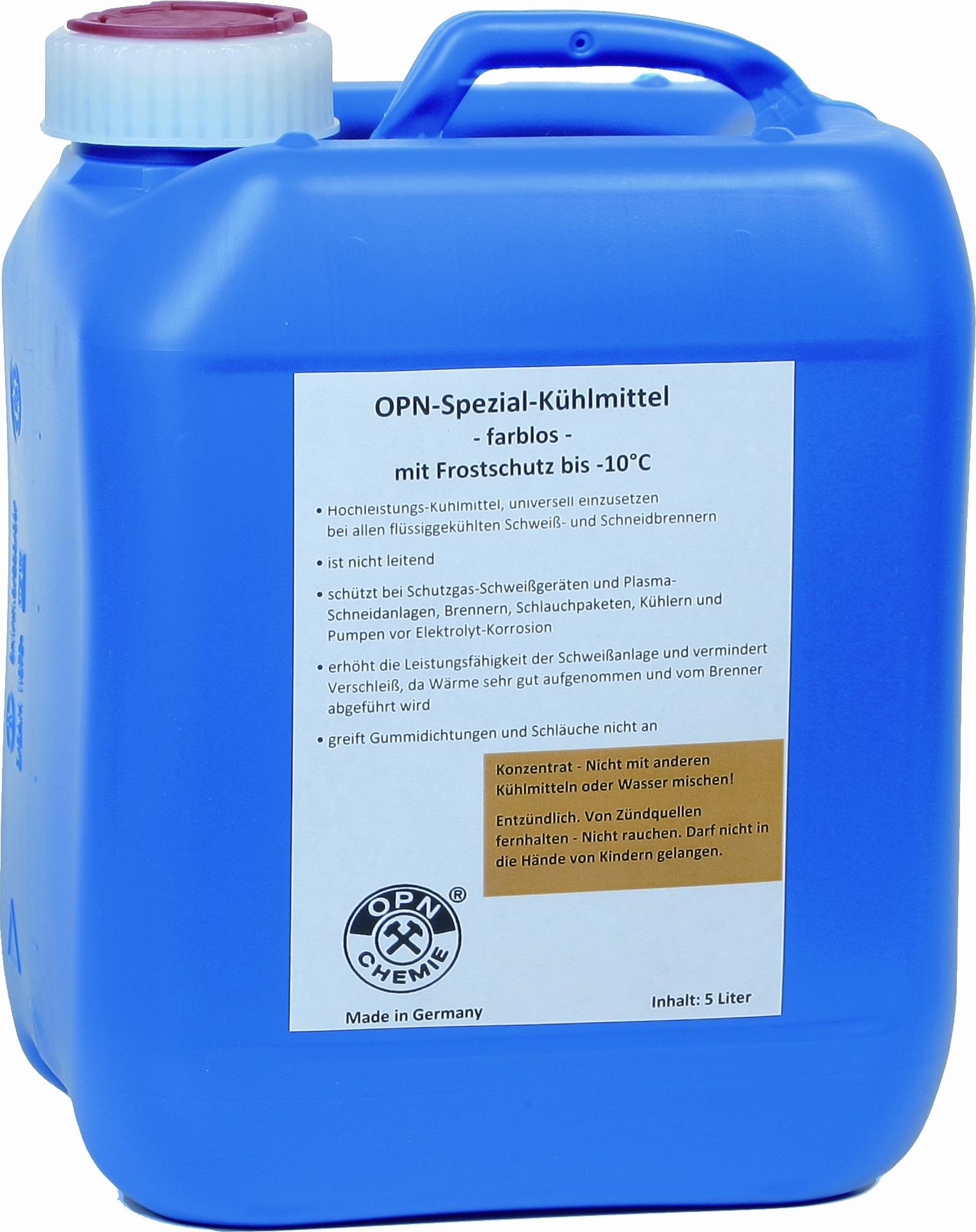 Spezial-Kühlmittel für die Schweisstechnik