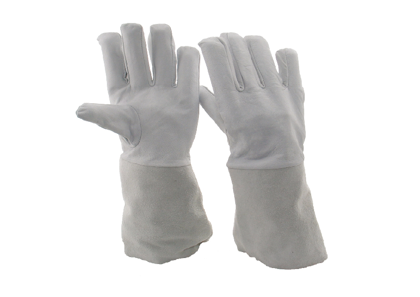 WIG-Handschuhe mit Spaltlederstulpe, 35 cm, Gr. 11