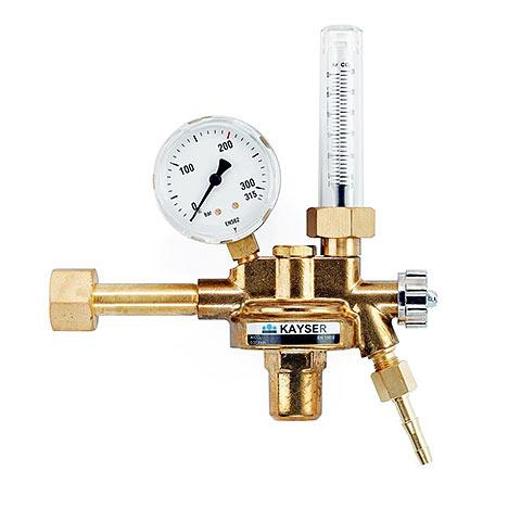 Druckminderer Argon, 300 bar, Flowmeter