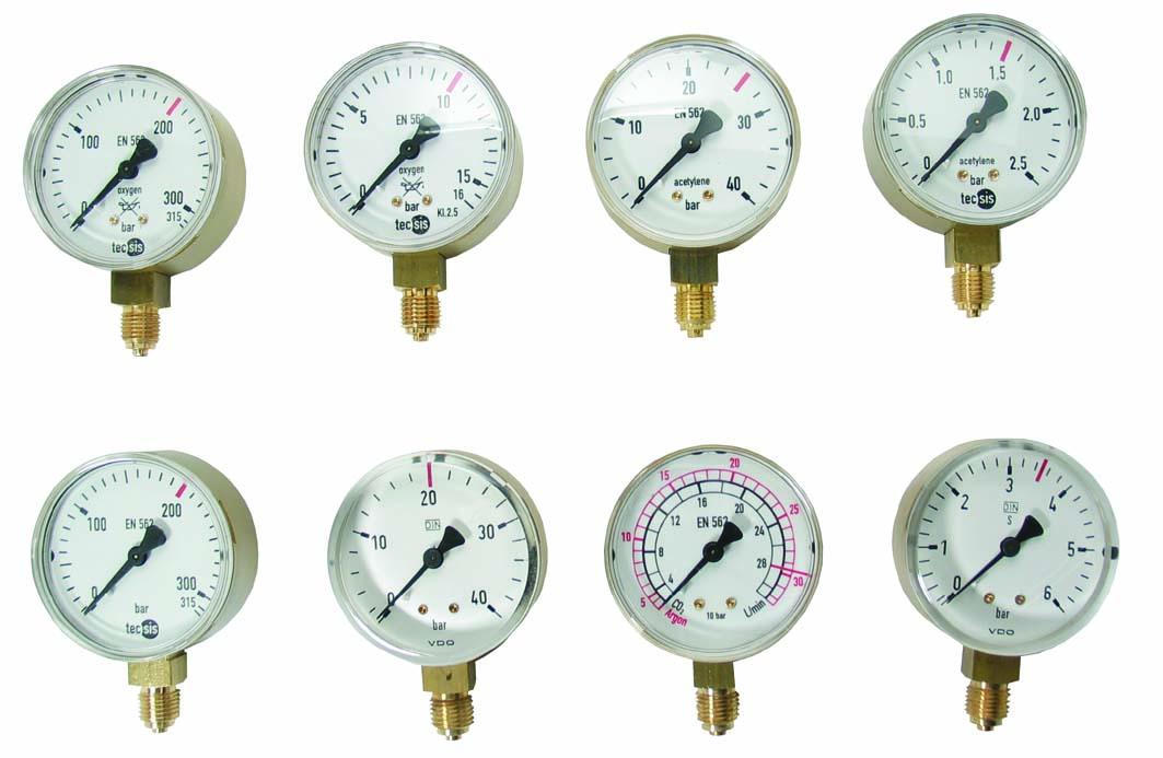 "Manometer Anschl. R 1/4"" Sauerstoff  - 8846"