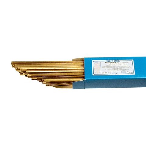 Messinghartlot G vierkant 2,5 mm