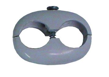 Doppelschlauchkl. Stahl verzinkt 16 - 16 mm
